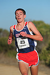 October 29, 2011; Belmont, CA, USA; Gonzaga Bulldogs runner Nate Gesell (45) competes during the WCC Cross Country Championships at Crystal Springs.