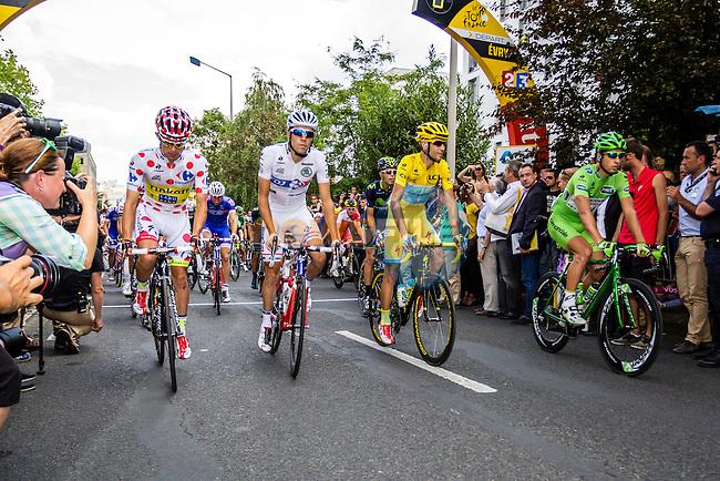 Vincenzo Nibali, Astana Pro Team, Peter Sagan, Cannondale, Rafal Majka, Tinkoff-Saxo, Thibaut Pinot, FDJ, Tour de France, Stage 21: Évry > Paris Champs-Élysées, UCI WorldTour, 2.UWT, Evry, France, 27th July 2014, Photo by Thomas van Bracht