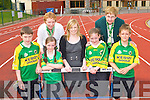 At the launch the Kerry Community Games finals which will be held in An Riocht Athletic Track Castleisland next Saturday and Sunday week were Donal Geaney, Margaret Culloty, Paris McDonagh, Maria Rohan Kerry Group, Danielle Reidy, Patsy O'Connell and Michael Prenderville..