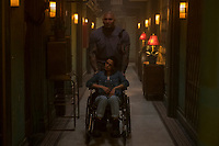 Hotel Artemis (2018) <br /> Dave Bautista<br /> *Filmstill - Editorial Use Only*<br /> CAP/MFS<br /> Image supplied by Capital Pictures