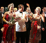 Judy Kaye, Matthew Broderick, Kelli O'Hara.during the Broadway Opening Night Curtain Call for  'Nice Work If You Can Get It' at the ImperialTheatre on 4/24/2012 in New York City.