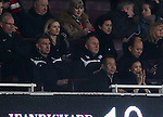 Leicester's Nigel Pearson watches on from the stands<br /> <br /> Barclays Premier League- Arsenal vs Leicester City  - Emirates Stadium - England - 10th February 2015 - Picture David Klein/Sportimage