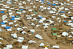 An camp for internally displaced persons outside Zalingei, in the war-torn Darfur region of Sudan. Since 2003, more than 400,000 people have been killed and some 2.5 million displaced in a government-orchestrated campaign of violence.