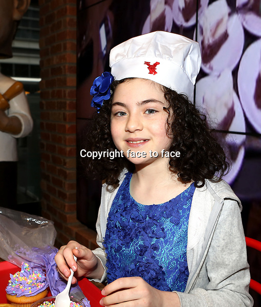 """Lilla Crawford, Star of """"ANNIE"""", Celebrates her 12th Birthday with fellow child actors of Broadway Shows at the Cake Boss Cafe in New York City on 3/25/2013..Credit: McBride/face to face"""