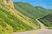 The Cabot Trail. Appalachain Mountains.  Near Cheticamp. Cape Breton Island.<br />