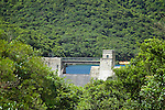 Valve house and dam of the Tai Tam Intermediate Reservoir (1904-1907), Tai Tam Group of Reservoirs.<br />