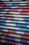 UTRECHT - Werkrooster verdeeld in maanden en in diverse kleuren, toont mogelijkheden tot plannen van de arbeid en verdeling van het personeel.  COPYRIGHT TON BORSBOOM