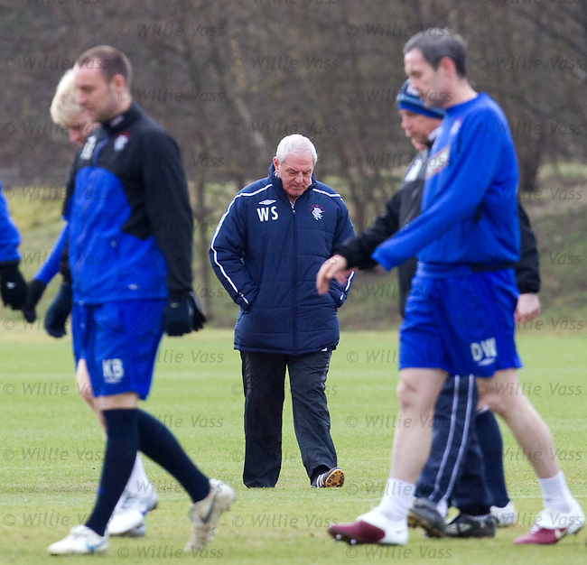 Walter Smith arriving for training
