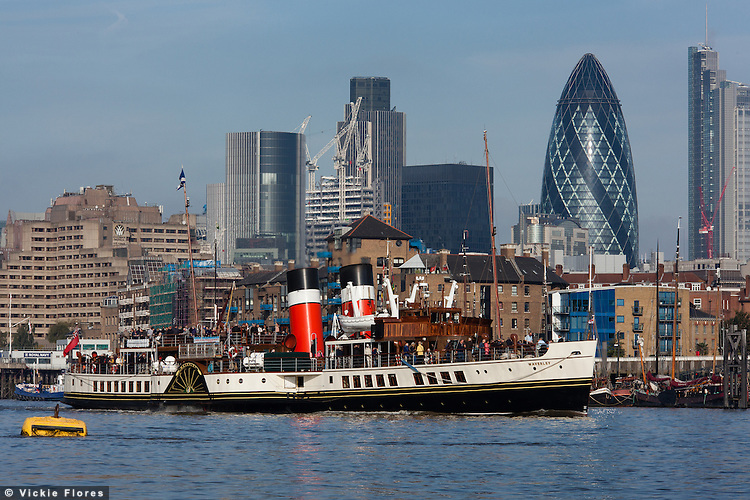 Waverley is the last seagoing Paddle Steamer in the world.