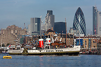 Waverley Paddle Steamer in London 2012