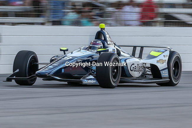 Ryan Briscoe (2) driver of the Hitachi Team Penske car in action during the DXC Technology 600 race at Texas Motor Speedway in Fort Worth,Texas.