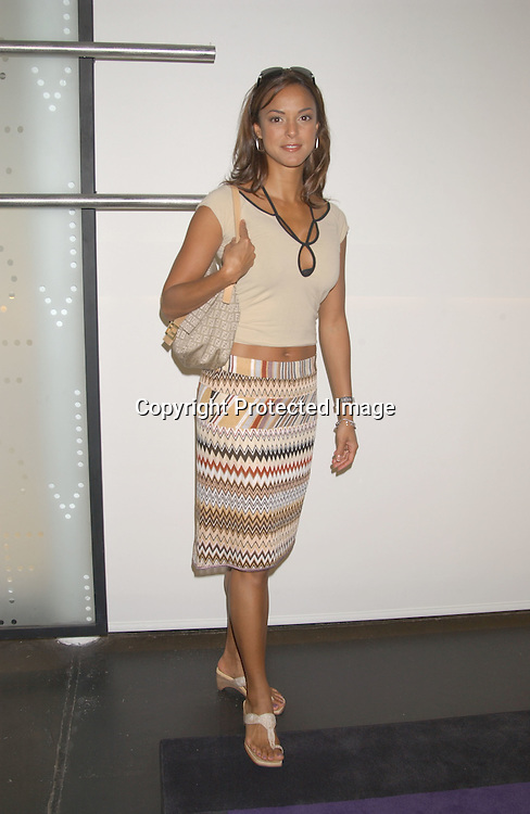 Eva La Rue  in Missoni skirt                                 ..at the Humane Society of the United States Save the Seal ..Party on July 23,2003 at Diane von Furstenberg's Studio in ..New York City, New York.                                              Photo by Robin Platzer, Twin Images