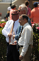 HALLANDALE BEACH, FL - APRIL 01: Trainer Todd Pletcher accepts the award for trainer with the most wins during the 2017 Gulfstream Park Championship Meet. Scenes from Florida Derby Day at Gulfstream Park on April 01, 2017 in Hallandale Beach, Florida. (Photo by Carson Dennis/Eclipse Sportswire/Getty Images)