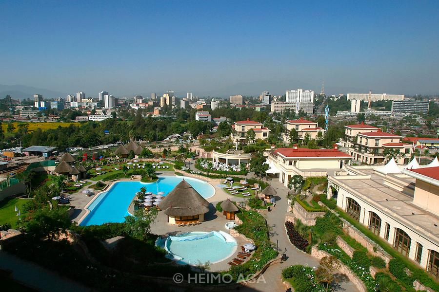ADDIS ABABA, ETHIOPIA..Swimming pool of Sheraton Addis Hotel..(Photo by Heimo Aga)