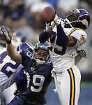 Seattle Seahawks  Minnesota Vikings during the quarter Friday, Sept 2, 2005 in Seattle. (AP Photo/Jim Bryant)..Minnesota Vikings Seattle Seahawks during the quarter Friday, Sept. 2, 2005 in Seattle. (AP Photo/Jim Bryant)..