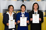 Girls Basketball finalists Aleesha Coulter, Jordan Hunter & Chevannah Paalvast. ASB College Sport Young Sportperson of the Year Awards 2008 held at Eden Park, Auckland, on Thursday November 13th, 2008.