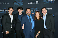 "LOS ANGELES, USA. December 17, 2019: Greg Grunberg, Elizabeth Grunberg, Jake Grunberg, Ben Grunberg & Sam Grunberg at the world premiere of ""Star Wars: The Rise of Skywalker"" at the El Capitan Theatre.<br /> Picture: Paul Smith/Featureflash"