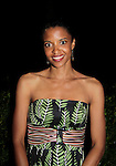 Renee Elise Goldsberry (One Life To Live) sang at the Shakespeare in America - Public Forum - on June 30, 2014 at the Delacorte Theater, Central Park, New York City, New York (Photo by Sue Coflin/Max Photos)