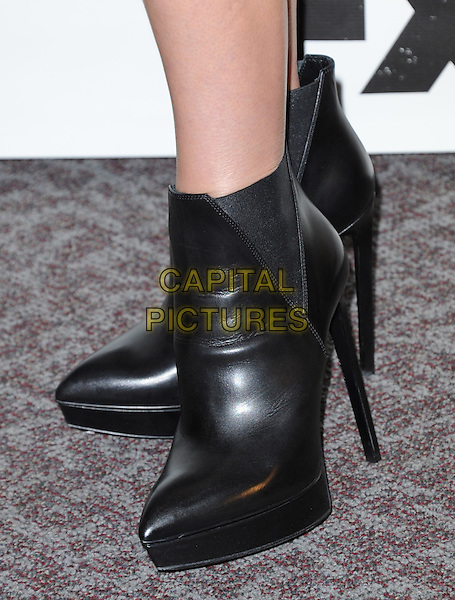 Annabeth Gish's shoes<br /> &quot;The Bridge&quot; Series Premiere held at the DGA Theatre, West Hollywood, California, USA.<br /> July 8th, 2013<br /> feet heels detail ankle boots black <br /> CAP/DVS<br /> &copy;DVS/Capital Pictures