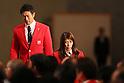 (L-R) Keisuke Ushiro, Saori Yoshida (JPN), <br /> AUGUST 25, 2016 : <br /> Rio 2016 Olympic Japan Delegation disbandment ceremony in Tokyo, Japan. <br /> (Photo by Yohei Osada/AFLO SPORT)