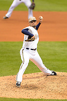 Milwaukee Brewers pitcher Michael Gonzalez #51 during a game against the Minnesota Twins at Miller Park on May 27, 2013 in Milwaukee, Wisconsin.  Minnesota defeated Milwaukee 6-3.  (Mike Janes/Four Seam Images)