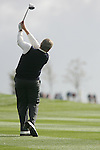 Colin Montgomerie second shot to the 8th in Friday Fourball's at the Seve Trophy on the 28th of September 2007 at the The Heritage Golf & Spa Resort, Killenard, Co Laois, Ireland. (Photo by Manus O'Reilly/NEWSFILE)