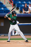 Daytona Tortugas center fielder Jonathan Reynoso (40) at bat during a game against the Brevard County Manatees on August 14, 2016 at Space Coast Stadium in Viera, Florida.  Daytona defeated Brevard County 9-3.  (Mike Janes/Four Seam Images)