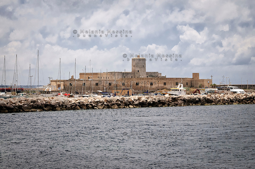 Trapani, antico lazzaretto sul porto.<br />