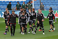 24.04.2012 SPAIN -  UEFA Champions League trining Bayern Munchen at Bernabeu stadium. The picture show