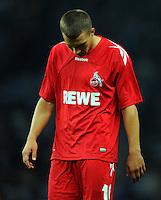 1. Oktober 2011: Berlin, Olympiastadion: Fussball 1. Bundesliga, 8. Spieltag: Hertha BSC - 1. FC Koeln: Koelns Lukas Podolski ist nach dem Spiel enttaeuscht.
