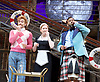 Twelfth Night <br /> by William Shakespeare <br /> directed by Emma Rice <br /> at Globe Theatre, Bankside, London, Great Britain <br /> press photocall <br /> 23rd May 2017 <br /> <br /> press night is on 24th May 2017 <br /> <br /> <br /> SALSA PARTY <br /> <br /> <br /> <br /> Marc Antolin as Sir Andrew Aguecheek<br /> <br /> Katy Owen as Malvolio <br /> <br /> Tony Jayawardena as Sir Toby Belch <br /> <br /> <br /> Photograph by Elliott Franks <br /> Image licensed to Elliott Franks Photography Services