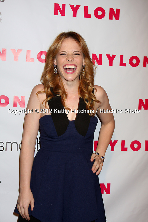 LOS ANGELES - APR 10:  Katie Leclerc arrives at the NYLON Magazine 13th Anniversary Celebration at Smashbox on April 10, 2012 in Los Angeles, CA