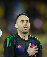 Colombia David Ospina before  the International Friendly match between Colombia and Australia at Craven Cottage, London, England on 27 March 2018. Photo by Andrew Aleksiejczuk / PRiME Media Images.
