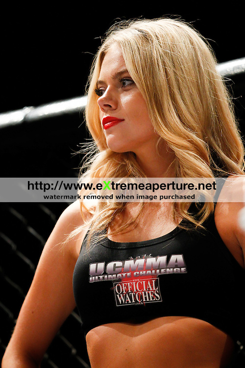 LONDON, UK, 6th September, 2014. ARing Girl at the UCMMA 40 event in Troxy, London