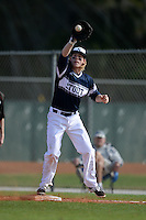 UW-Stout Blue Devils Jake Johnson (18) during the first game of a doubleheader against the Edgewood Eagles on March 16, 2015 at Lee County Player Development Complex in Fort Myers, Florida.  UW-Stout defeated Edgewood 6-1.  (Mike Janes/Four Seam Images)