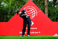 Patrick Reed (USA) on the 9th tee during the 2nd round at the WGC HSBC Champions 2018, Sheshan Golf CLub, Shanghai, China. 26/10/2018.<br /> Picture Fran Caffrey / Golffile.ie<br /> <br /> All photo usage must carry mandatory copyright credit (&copy; Golffile | Fran Caffrey)