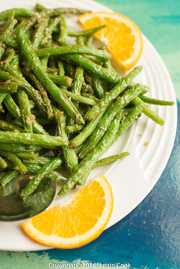 Sauteed String Bean with Garlic Sauce at Dim Sum House in Morrisville, N.C. on Saturday, March 29, 2014. (Justin Cook)