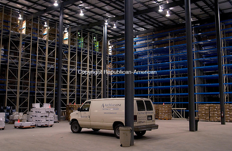 WATERTOWN, CT - 27 April 2004 - 042704TH07 -  One of ArchivesOne warehouses with 40-foot ceilings is located on Commercial Street in Watertown..  TODD HOUGAS PHOTO