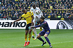 11.05.2019, Signal Iduna Park, Dortmund, GER, DFL, 1. BL, Borussia Dortmund vs Fortuna Duesseldorf, DFL regulations prohibit any use of photographs as image sequences and/or quasi-video<br /> <br /> im Bild Foulspiel zum Elfmeter von Manuel Akanji (#16, Borussia Dortmund) und Roman B&uuml;rki / Buerki (#1, Borussia Dortmund) an Dodi Lukebakio (#20, Fortuna Duesseldorf) <br /> <br /> Foto &copy; nordphoto/Mauelshagen