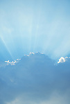 God Rays, Rays of sunlight from behind clouds, atmosphere, .