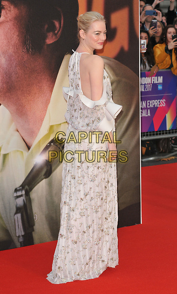 Emma Stone at the 61st BFI LFF &quot;Battle of the Sexes&quot; American Express gala, Odeon Leicester Square, Leicester Square, London, England, UK, on Saturday 07 October 2017.<br /> CAP/CAN<br /> &copy;CAN/Capital Pictures