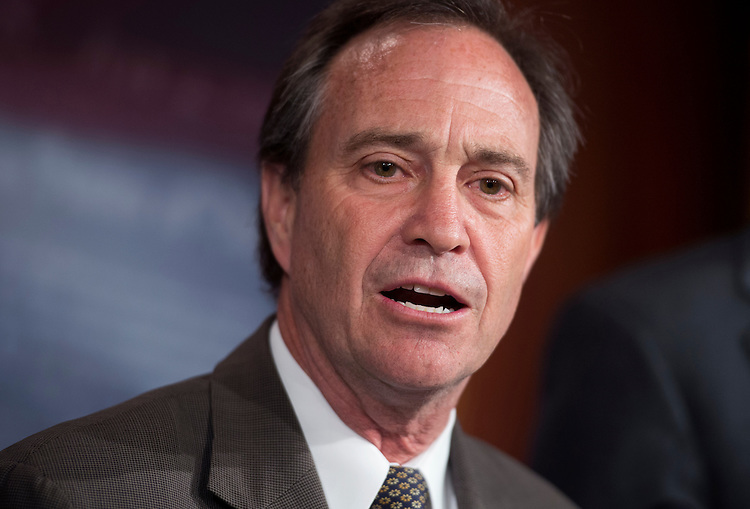 "UNITED STATES - MAY 09:  Rep. Ed Perlmutter, D-Colo., speaks at a news conference to announce the introduction of the Password Protection Act of 2012, that would prohibit employers from ""coercing prospective or current employees into providing access to the employee's private, password-protected accounts."" (Photo By Tom Williams/CQ Roll Call)"