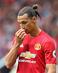 Zlatan Ibrahimovic of Manchester United dejected during the Premier League match at Old Trafford Stadium, Manchester. Picture date: September 10th, 2016. Pic Simon Bellis/Sportimage