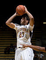 Allen Crabbe of California shoots the ball during the game against SFSU at Haas Paviliion in Berkeley, California on November 6th, 2012.  California defeated San Francisco State, 89-80.