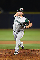 Fort Wayne TinCaps pitcher Jason Jester (27) delivers a pitch during a game against the Lake County Captains on August 21, 2014 at Classic Park in Eastlake, Ohio.  Lake County defeated Fort Wayne 7-8.  (Mike Janes/Four Seam Images)