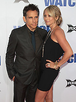 Ben Stiller &amp; Christine Taylor arrives at 'The Watch' Premiere Sponsored by AXE at Grauman's Chinese Theatre on July 23, 2012 in Hollywood, California MPI25 / Mediapunchinc /*NortePhoto.com*<br />