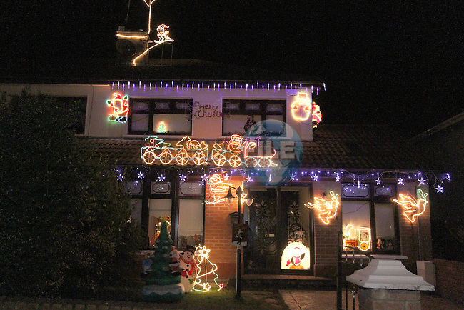 House in Rosevale in Drogheda Decorated for Christmas...Photo NEWSFILE/Jenny Matthews..(Photo credit should read Jenny Matthews/NEWSFILE)