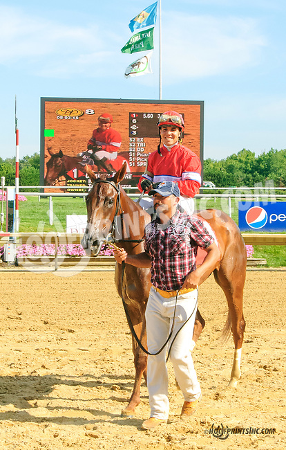 Curlish Figure winning at Delaware Park on 8/3/15