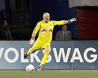 New York Red Bulls goalkeeper Bill Gaudette (88). Despite a red-card man advantage, in a Major League Soccer (MLS) match, the New England Revolution tied New York Red Bulls, 1-1, at Gillette Stadium on September 22, 2012.