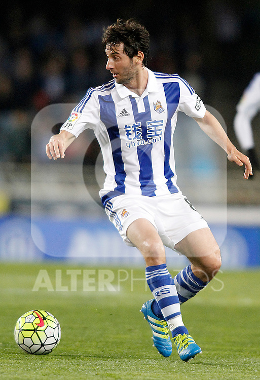 Real Sociedad's Esteban Granero during La Liga match. April 9,2016. (ALTERPHOTOS/Acero)